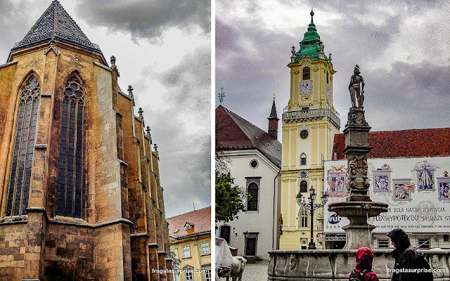 Bratislava, Eslováquia: Catedral de São Martinho e Fonte Roland