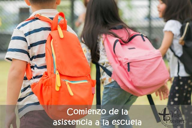 comienzo de la asistencia a la escuela