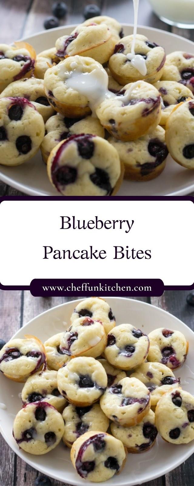 Blueberry Pancake Bites
