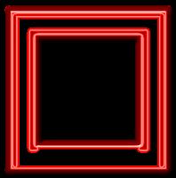 Moldura quadrada vermelha  - criação Blog PNG-Free