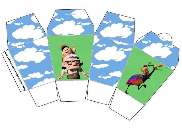 Fiesta de Up: Cajas para Imprimir Gratis