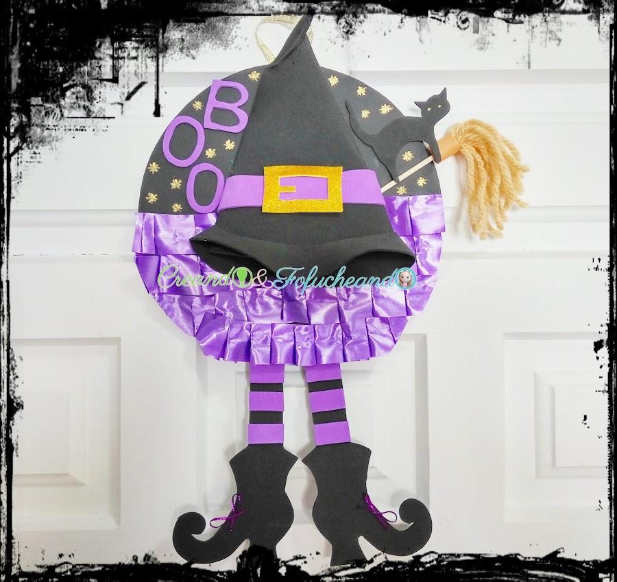 cómo-hacer-una-corona-de-bruja-manualidades-para-halloween-creandoyfofucheando