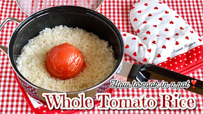 Whole Tomato Rice in a Pot