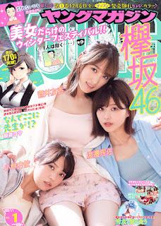 Young Magazine 2020.01.01 No.01 Keyakizaka46 Kobayashi Yui, Sugai Yuka, Watanabe Risa