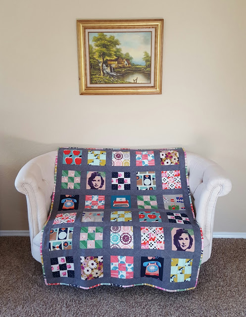Melody Miller Retro Nine Patch Quilt by Heidi Staples for Fabric Mutt