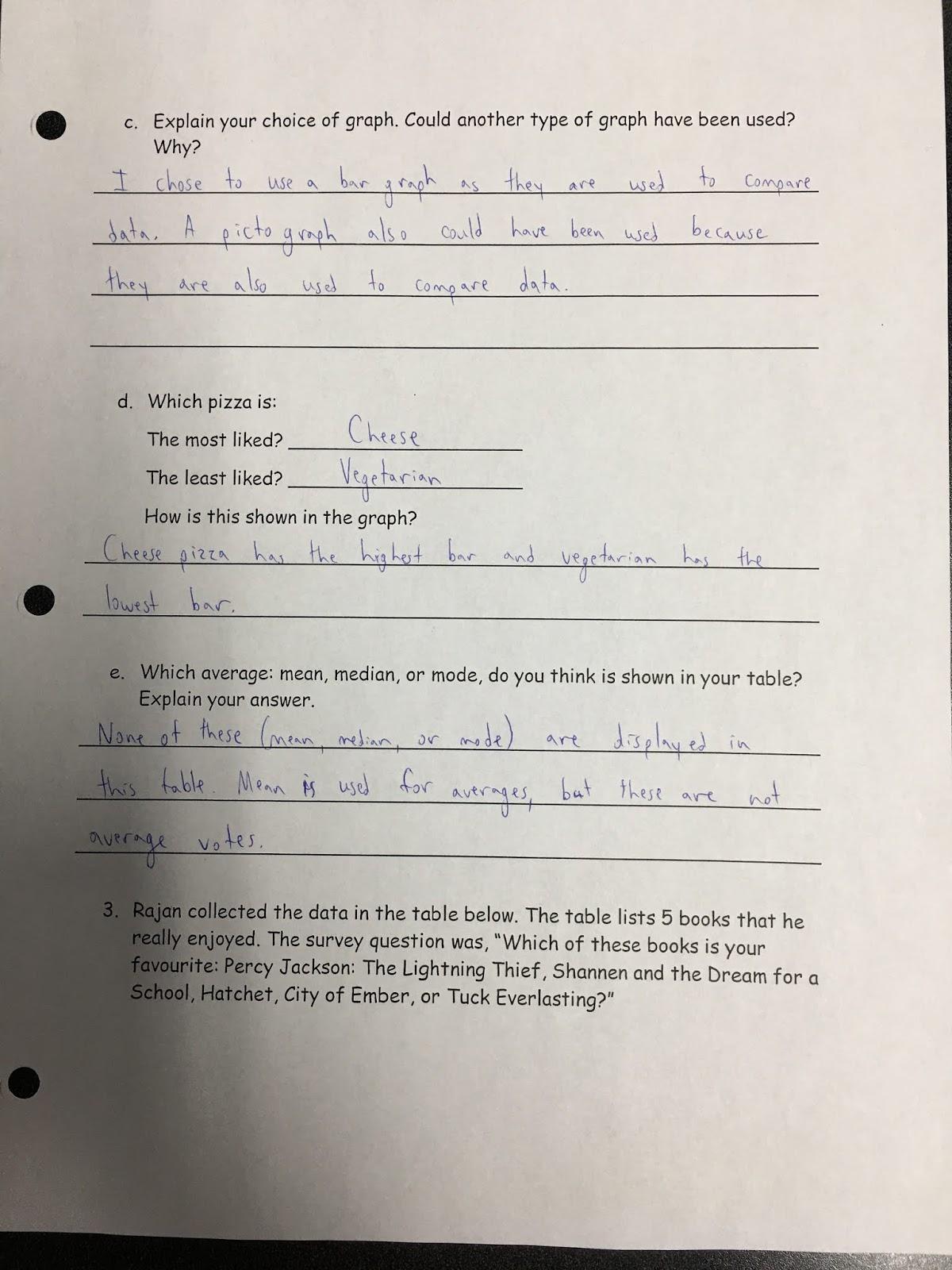 Mr. Conte's Grade 6 Class: Math Review Answer Key