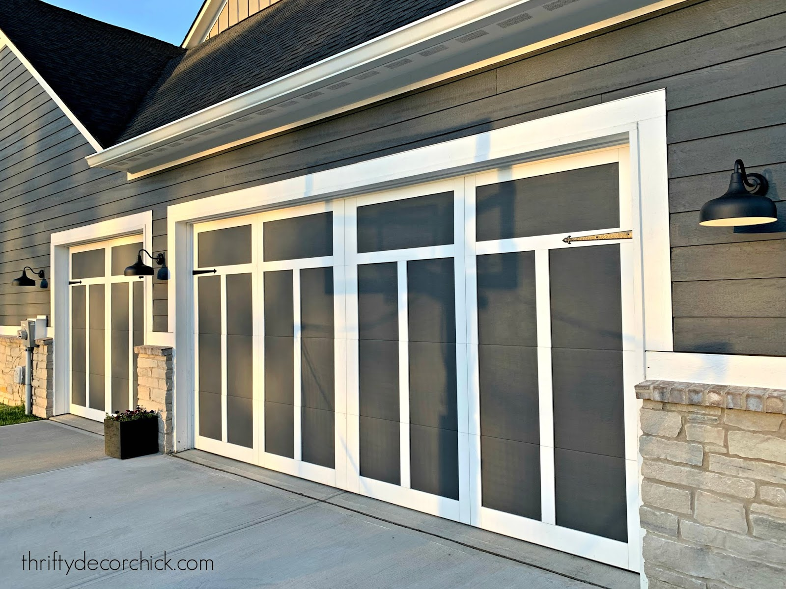 Modern Craftsman garage door design