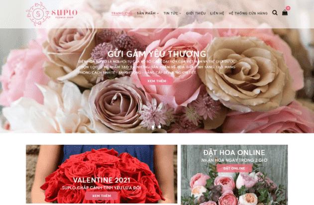 Template blogspot hệ thống cửa hàng điện hoa