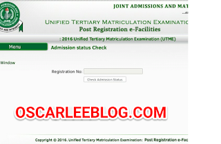 Jamb admission checking portal
