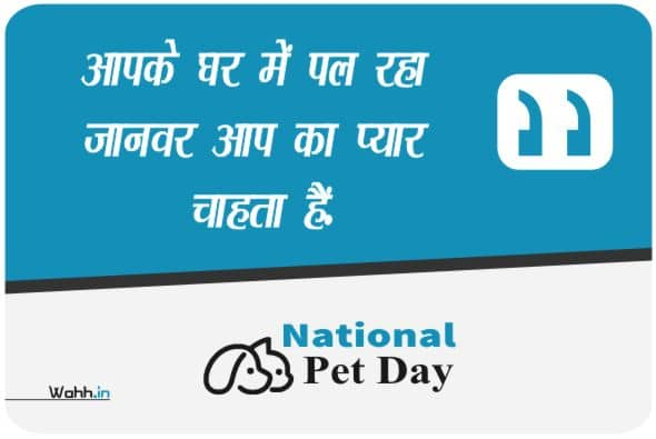 National Pet Day Quotes Greetings
