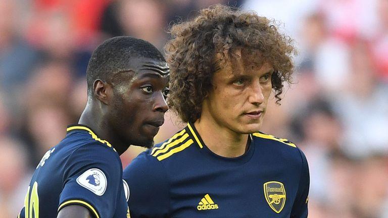 Nicolas Pepe and David Luiz endured difficult moments against Liverpool