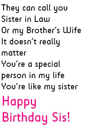 Sister In Law Birthday Quotes Wishes And Messages Quotes Tree