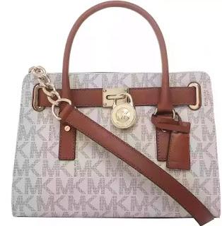 3aed7a637ec29 Michael Kors handbag 30T2GHMS3B -150 Hamilton Monogram Logo Medium Satchel  Bag for Women - Vanilla
