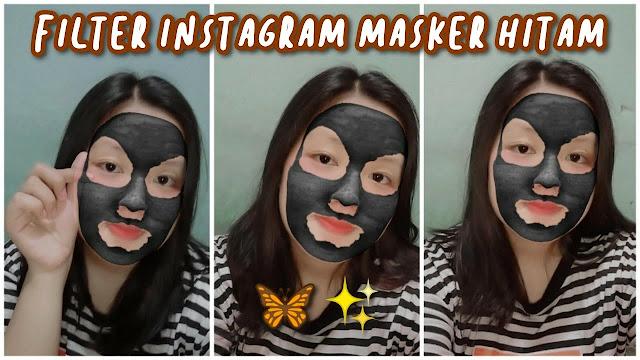 Filter IG Masker Wajah Hitam