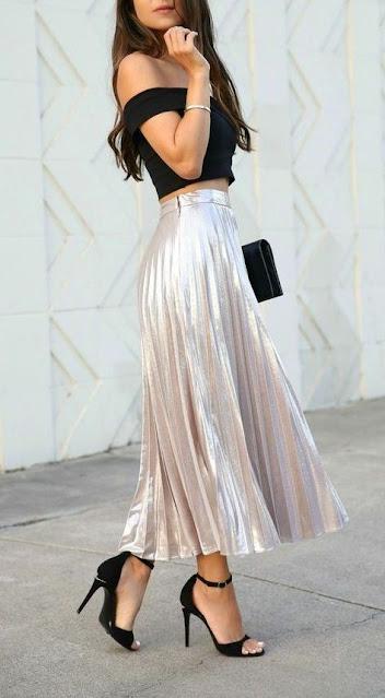 Outfits con falda larga