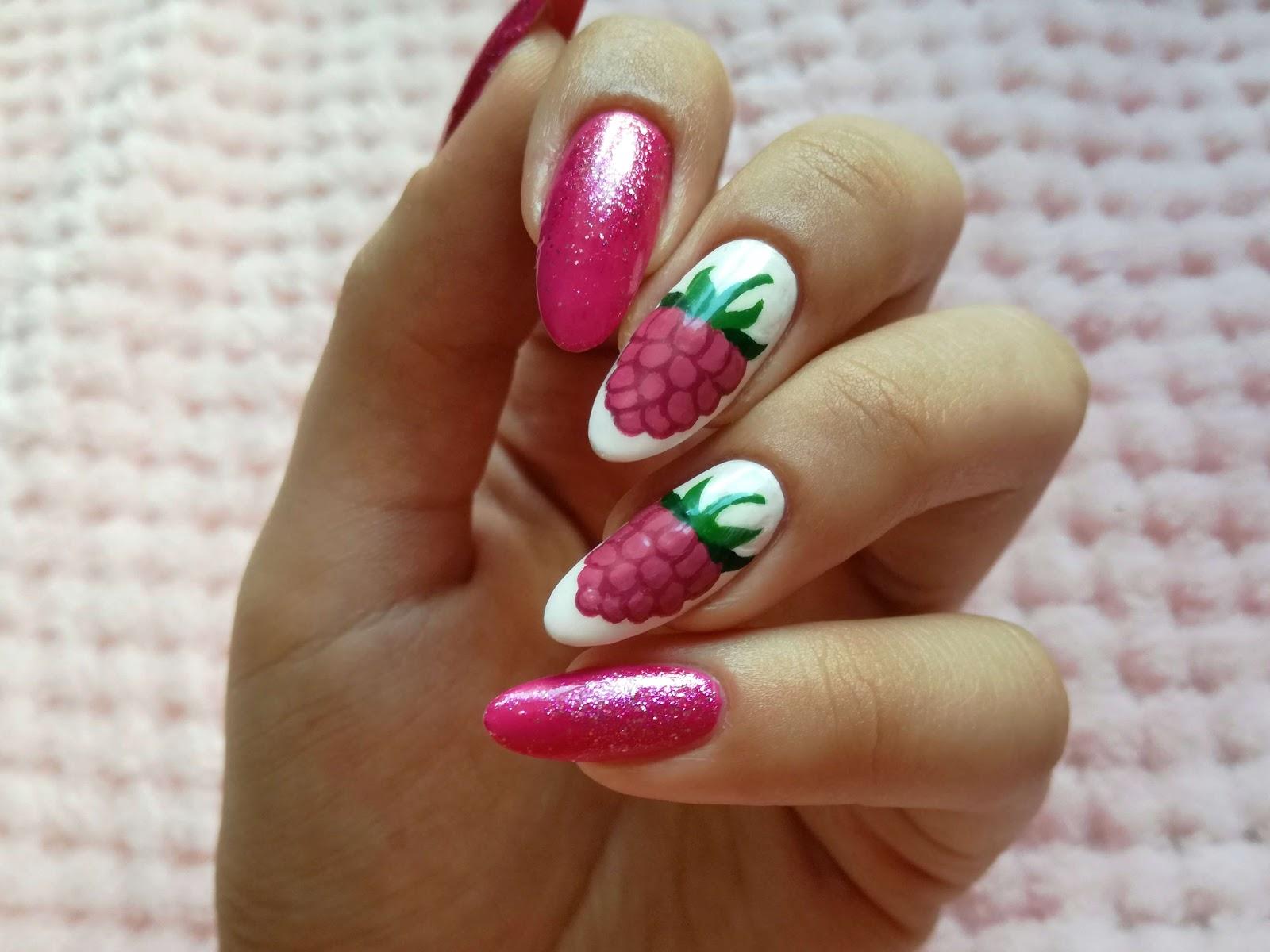 paznokcie w maliny