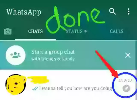 pinned whatsapp chat on the top