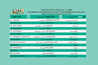PRONOSTIC TOTOFOOT 14 Spécial N° 288S