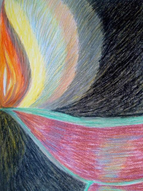 Drawing image of diwali clay-lamp