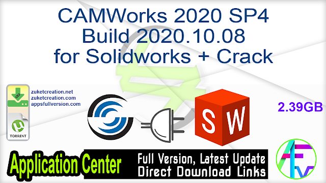 CAMWorks 2020 SP4 Build 2020.10.08 for Solidworks + Crack