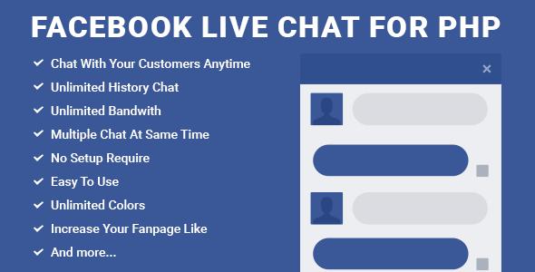 Facebook Live Chat for PHP v1.2