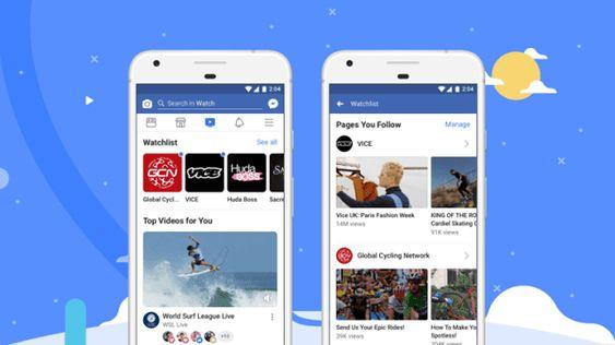 فيس بوك تطلق خدمة Facebook Watch المنافسه ليوتيوب