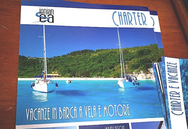 Brochure per charter barche