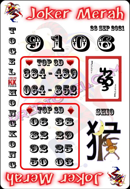 Prediksi Joker Merah Togel HK Selasa 28-09-2021