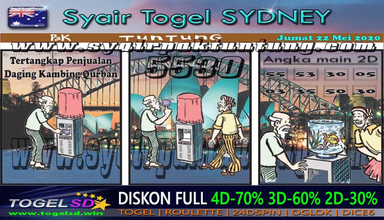 Prediksi Togel Sydney Jumat 22 Mei 2020 - Syair Pak Tuntung