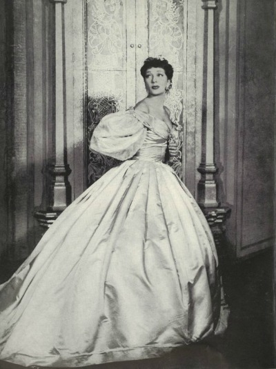 Gertrude Lawrence in costume by Irene Sharaff for stage production of The King and I