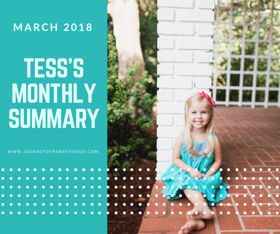 Tess Monthly Summary: March 2018