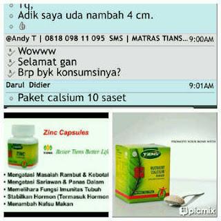 kesaksian pengguna, paket peninggi badan tiens, susu kalsium nutrient high calcium powder zinc, SMS 085793919595