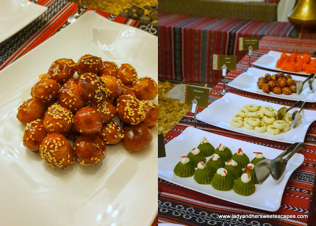 Arabic sweets at suhoor in Hili Rayhaan by Rotana