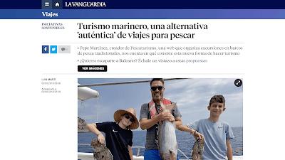 Excursiones de Pescaturismo en Mallorca, Menorca, Catalunya, Región de Murcia, Comunidad Valenciana y Galicia