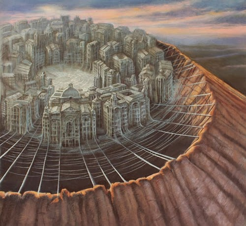 26-Arachnopolis-Marcin-Kołpanowicz-Painting-Architecture-in-Surreal-Worlds-www-designstack-co
