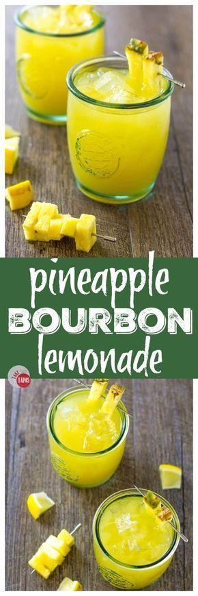 pineapple bourbon lemonade