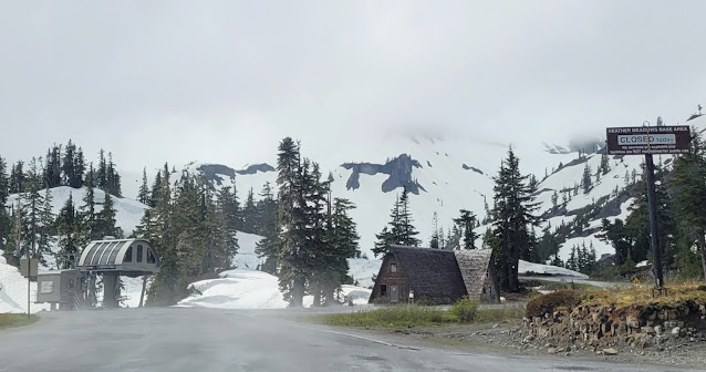 View of heather Meadows Base area