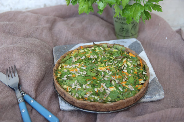 Cuillère et saladier : Quiche au persil