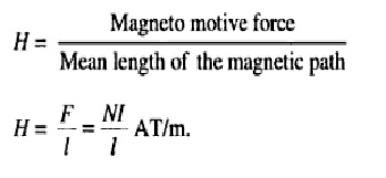 magnetic field intensity formula