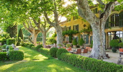 "The gorgeous ""after"" at Les Confines in Provence."