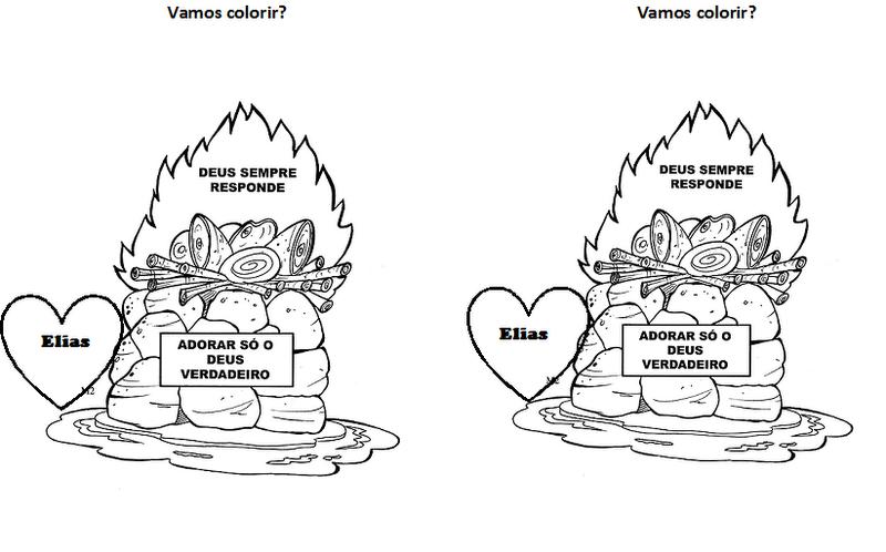 Escola Bíblica: Atividade Elias