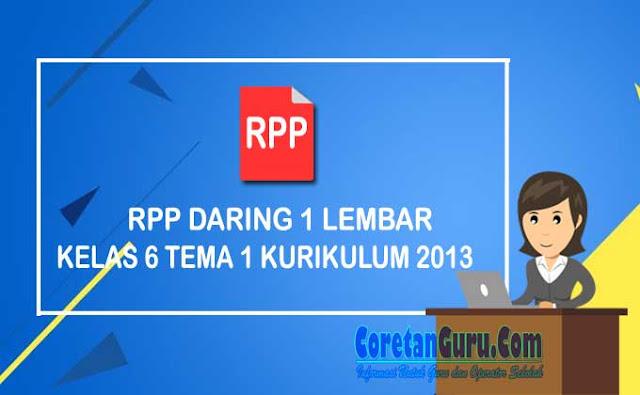 RPP Daring 1 Lembar Kelas 6 tema 1 Kurikulum 2021 Revisi 2021