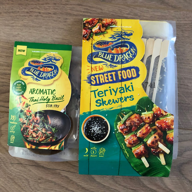 Blue Dragon Thai Holy Basil Stir Fry Kit and Teriyaki Street Food Skewers review