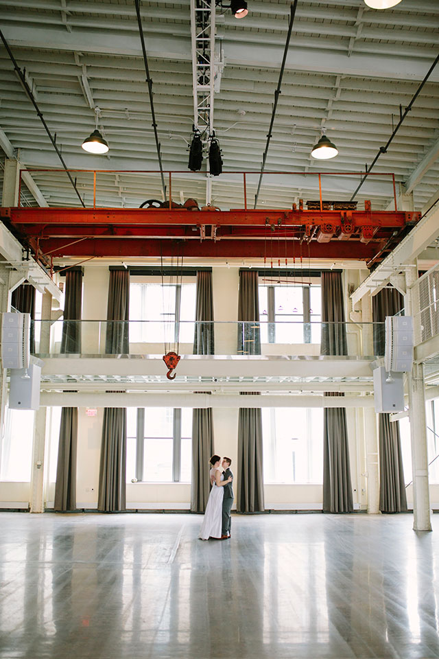 Our elopement in the Machine Shop in Minneapolis, MN | Photography by Jessica Holleque