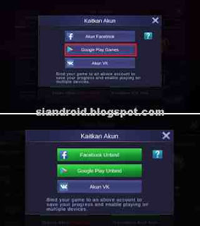 menautkan akun game mobile legend ke google play
