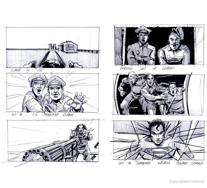 Film Sketchr: Marvelous SUPERMAN RETURNS Storyboards By Ed Natividad