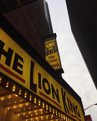Lion KIng show at minksoff theater