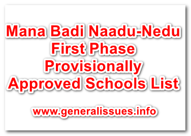 Mana Badi Naadu-Nedu First Phase Provisionally Approved Schools List