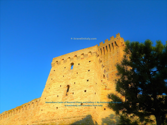 Montefiore Castle of Recanati Photo and Gallery © By Baldassarri Giuseppe itravelinitaly.com travelers from Italy