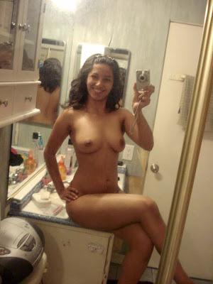 girl shot asian nude self